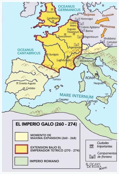 Imperio Galo. Mapa de elaboración propia. Carlos de Miguel para EODR