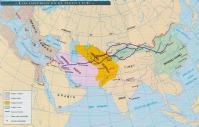 Ruta de la seda. Ilustración del Atlas Histórico Aguilar