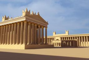 Reconstrucción en 3D del templo de Baal