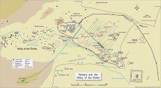 Plano de Palmira, incluyendo el Valle de las Tumbas