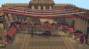 Reconstrucción de parte del mercado de la ciudad de Palmira