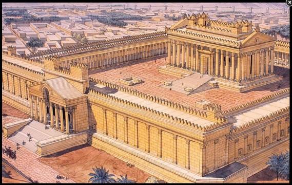 El templo de Baal (o de Bel) según el dibujo de Jean Claude Golvin