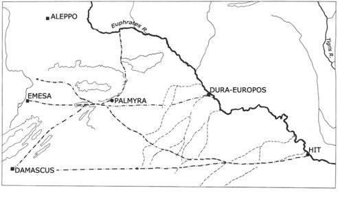 Rutas comerciales en el contexto palmirense más cercano