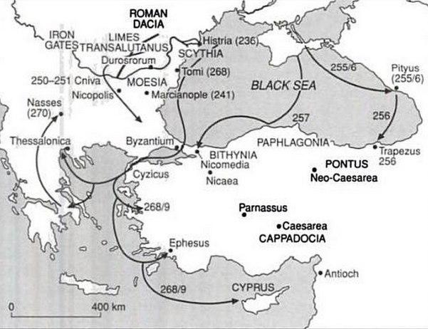 Godos Razzias Siglo III